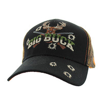 VM555 Big Buck Velcro Cap (Black & Orange Camo)