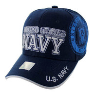 VM020 Military License Navy #3 Baseball Velcro Cap (Solid Navy)