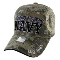 VM020 Military License Navy #4 Baseball Velcro Cap (Solid Digital Camo)