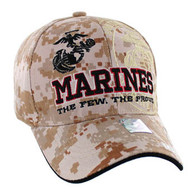 VM050 Military License Marine #4 Baseball Velcro Cap (Solid Digital Camo)