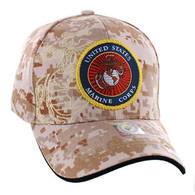 VM050 Military License Marine #6 Baseball Velcro Cap (Solid Digital Camo)
