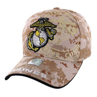 VM050 Military License Marine #8 Baseball Velcro Cap (Solid Digital Camo)