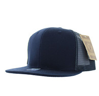 SP029 Plain Cotton Mesh Trucker Cap (Solid Navy)