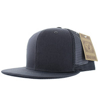 SP029 Plain Cotton Mesh Trucker Cap (Solid Dark Grey)