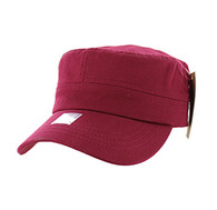 VP085 Washed Cotton Castro Caps (Burgundy)