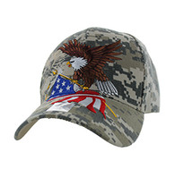 VM040 American USA Eagle Velcro Cap (Solid Digital Camo)