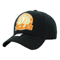 VM963 Texas Velcro Cap (Solid Black)