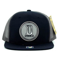 SM062 Dallas Snapback Trucker Mesh Cap (Navy & Grey)
