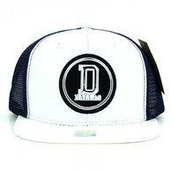 SM062 Dallas Snapback Trucker Mesh Cap (White & Navy)