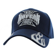 VM013 No Fear Ride Hard Velcro Cap (Solid Navy)