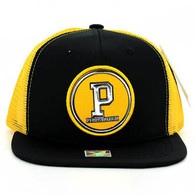SM062 Pittsburgh Snapback Trucker Mesh Cap (Black & Gold)