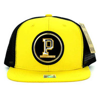 SM062 Pittsburgh Snapback Trucker Mesh Cap (Gold & Black)