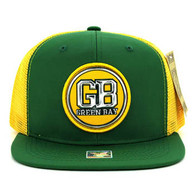 SM062 Green Bay Snapback Trucker Mesh Cap (Dark Green & Gold)