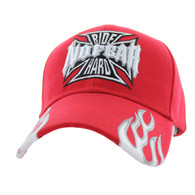 VM013 No Fear Ride Hard Velcro Cap (Solid Red)