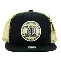 SM062 New Orleans Snapback Trucker Mesh Cap (Black & Khaki)