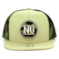 SM062 New Orleans Snapback Trucker Mesh Cap (Khaki & Military Camo)