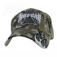 VM013 No Fear Ride Hard Velcro Cap (Solid Hunting Camo)