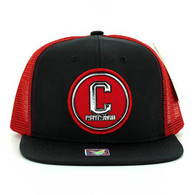 SM062 Chicago Snapback Trucker Mesh Cap (Black & Red)