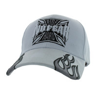 VM013 No Fear Ride Hard Velcro Cap (Solid White)