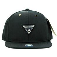 SM969 High Life Snapback Cap (Solid Black)