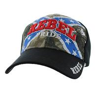 VM061 Rebel Pride Velcro Cap (Hunting Camo & Black)