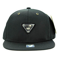 SM969 Queen Cotton Snapback Cap Hat (Solid Black)