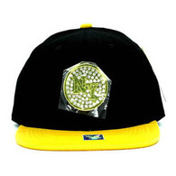 SM889 New York Snapback Cap (Black & Gold)