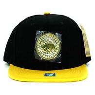 SM889 Cali Bear Snapback Cap (Black & Gold)