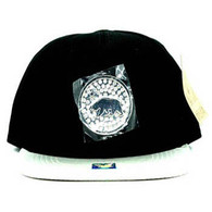 SM889 Cali Bear Snapback Cap (Black & Silver)