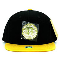 SM889 Dallas Snapback Cap (Black & Gold)
