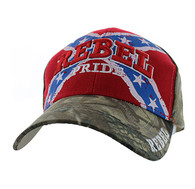 VM061 Rebel Pride Velcro Cap (Red & Hunting Camo)