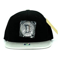 SM889 Dallas Snapback Cap (Black & Silver)
