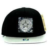 SM889 Star Snapback Cap (Black & Silver)