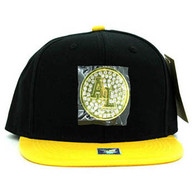 SM889 Alabama Snapback Cap (Black & Gold)