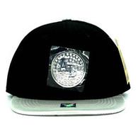 SM889 Alabama Snapback Cap (Black & Silver)