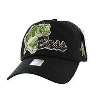 BM021 Big Bass Buckle Cap (Solid Black)