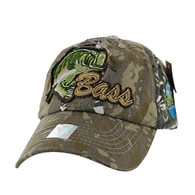 BM021 Big Bass Buckle Cap (Solid Hunting Camo)