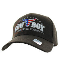 VM074 CowBoy Certified Tough Velcro Cap (Solid Brown)