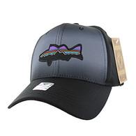 VM056 Fishing Baseball Velcro Cap (Solid Black)