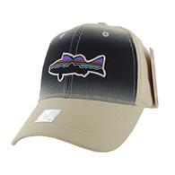 VM056 Fishing Baseball Velcro Cap (Solid Khaki)