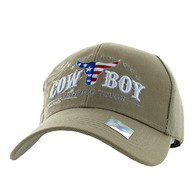 VM074 CowBoy Certified Tough Velcro Cap (Solid Khaki)