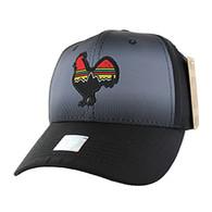VM056 Cock Baseball Velcro Cap (Solid Black)