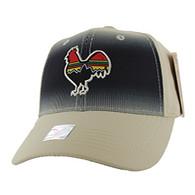 VM056 Cock Baseball Velcro Cap (Solid Khaki)