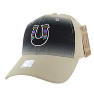 VM056 Horse Shoe Baseball Velcro Cap (Solid Khaki)