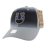 VM056 Horse Shoe Baseball Velcro Cap (Solid Grey)