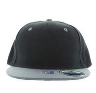 SP021 Kids Two Tone Snapback Cap (Black & Grey)