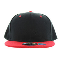 SP021 Kids Two Tone Snapback Cap (Black & Red)