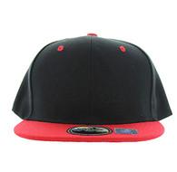 SP021 Kids Two Tone Snapback Cap (Black & Red)