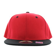 SP021 Kids Two Tone Snapback Cap (Red & Black)