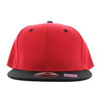 SP021 Kids Two Tone Snapback Cap (Red & Black)